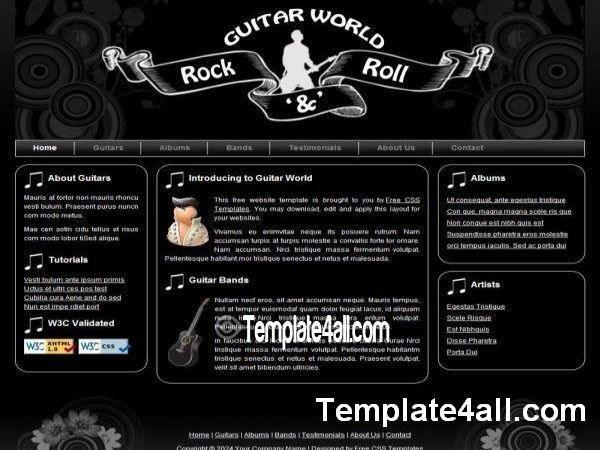 17 Free Music Website Templates Images - Free Music Download ...