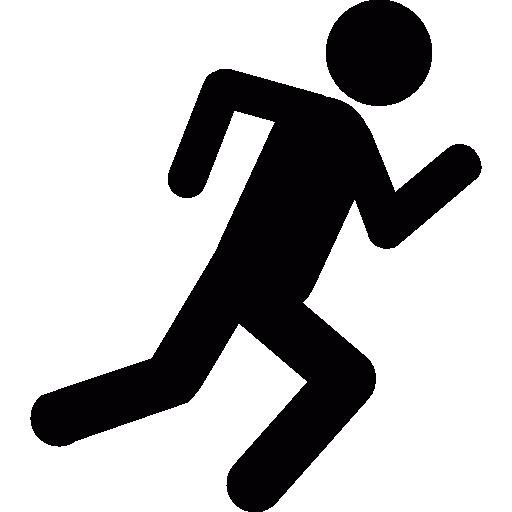 Running Stick Figure Icon