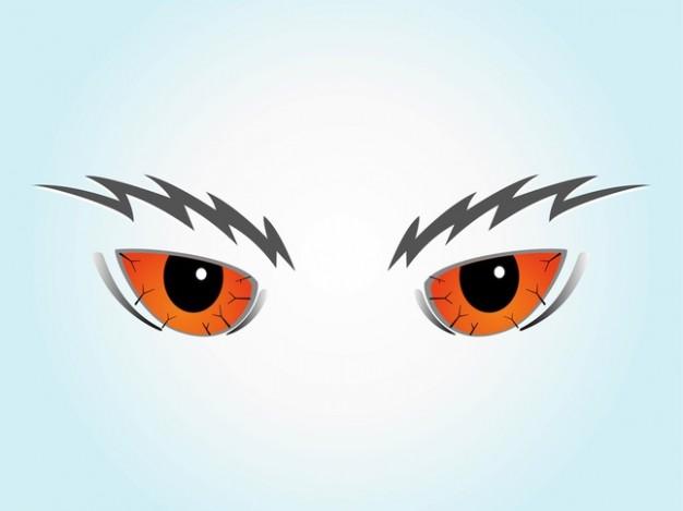 Scary Cartoon Eyes Clip Art