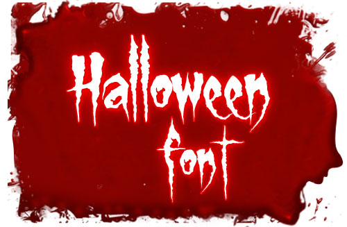 9 Halloween Double Feature Font Images