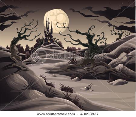 Scary Landscape Cartoon