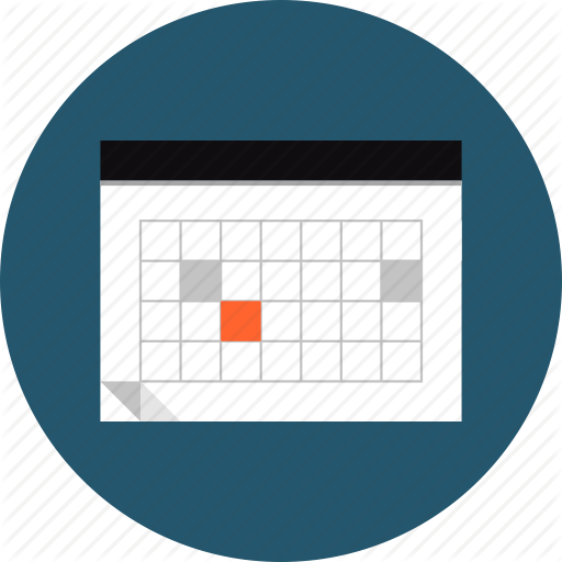 Calendar Design Png : Meeting schedule icons images