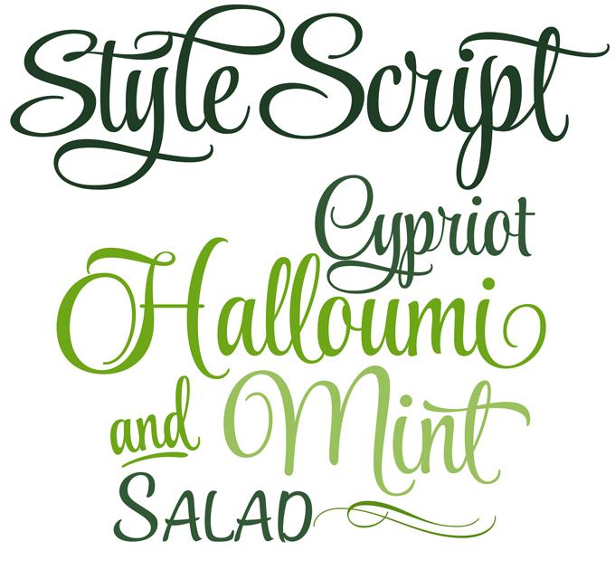 8 Script-Style Font Sample Images