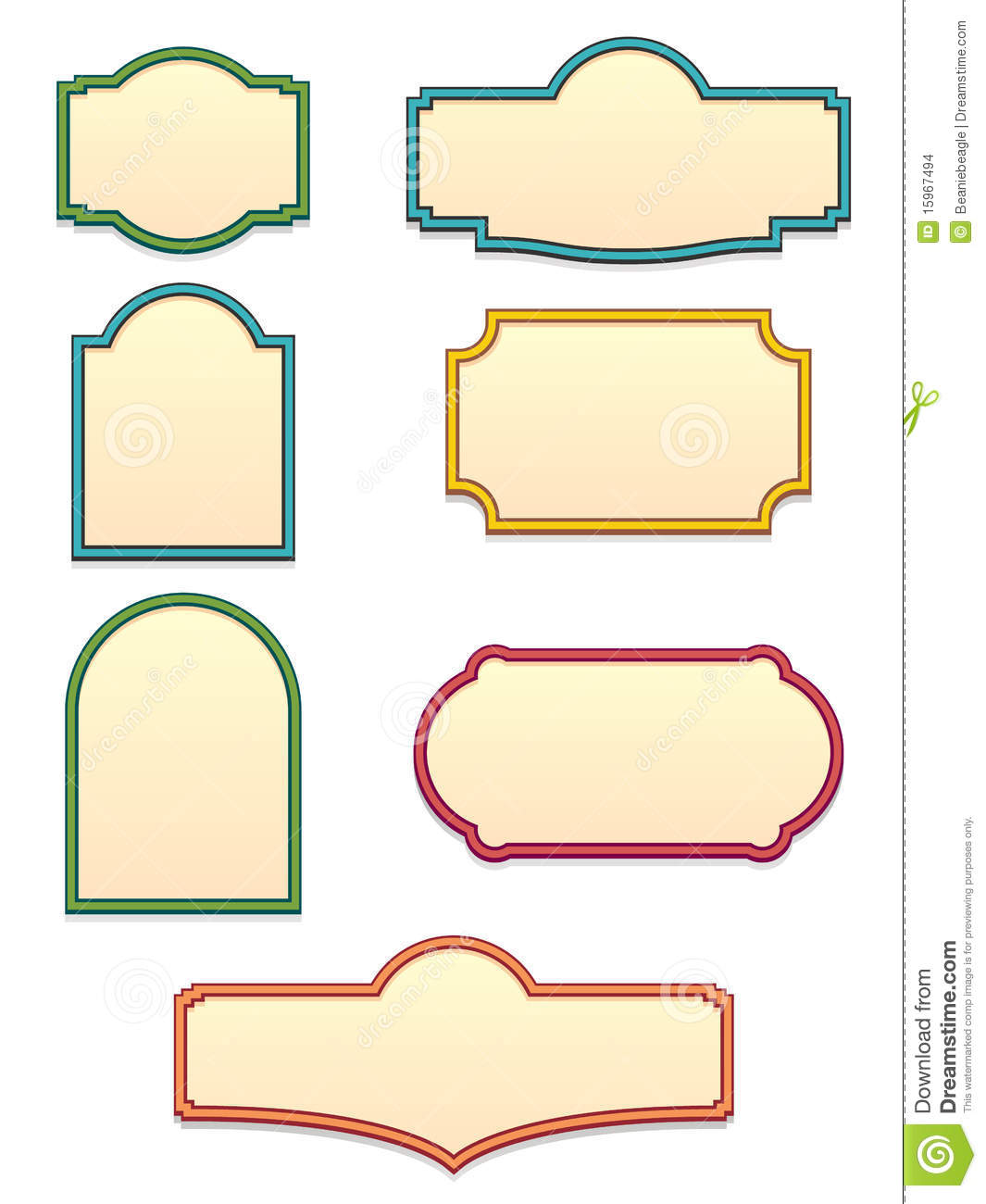 12 Vector Sign Shapes Images