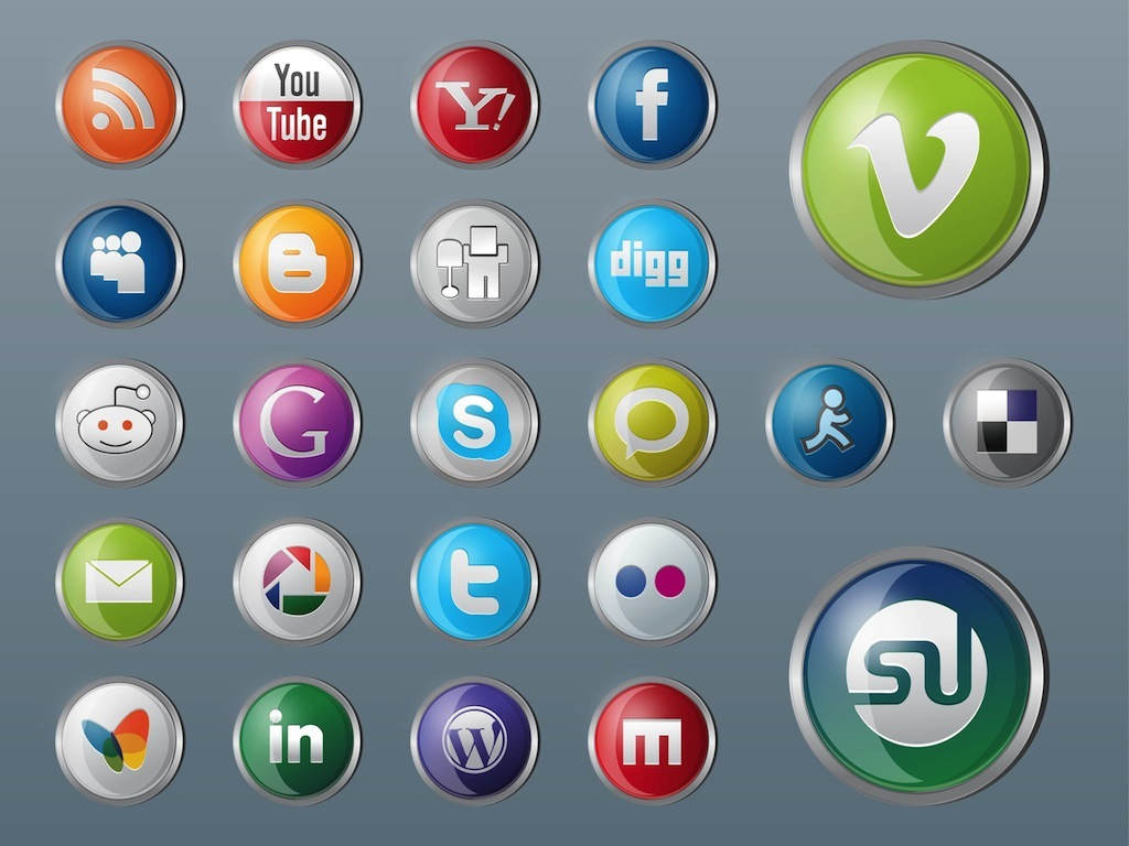 Social Media Website Icons