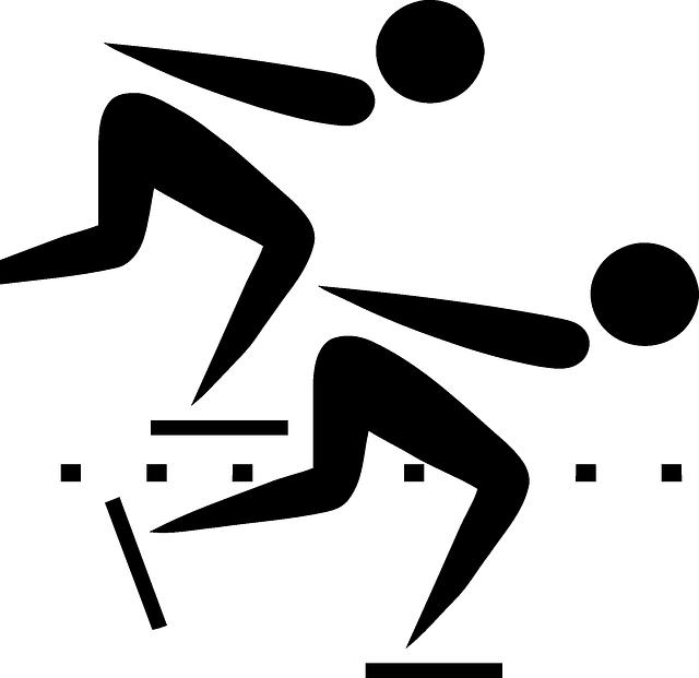 Speed Skating Clip Art