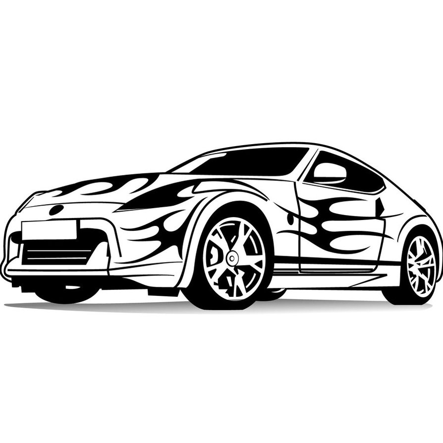 17 Sports Car Vector Line Art Images