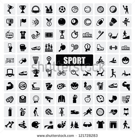 10 Black Sports Vectors Images