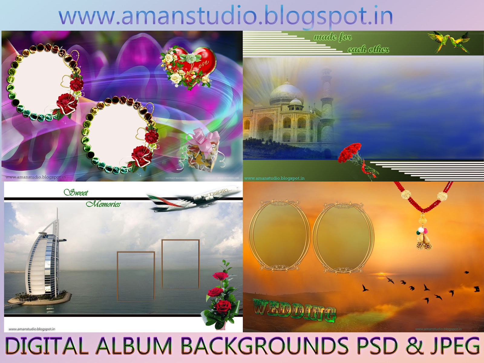 5 Aman Studio Background PSD Images