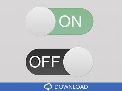 Switch Button PSD Flat