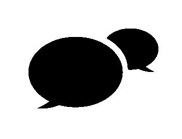 Two People Talking Icon Black