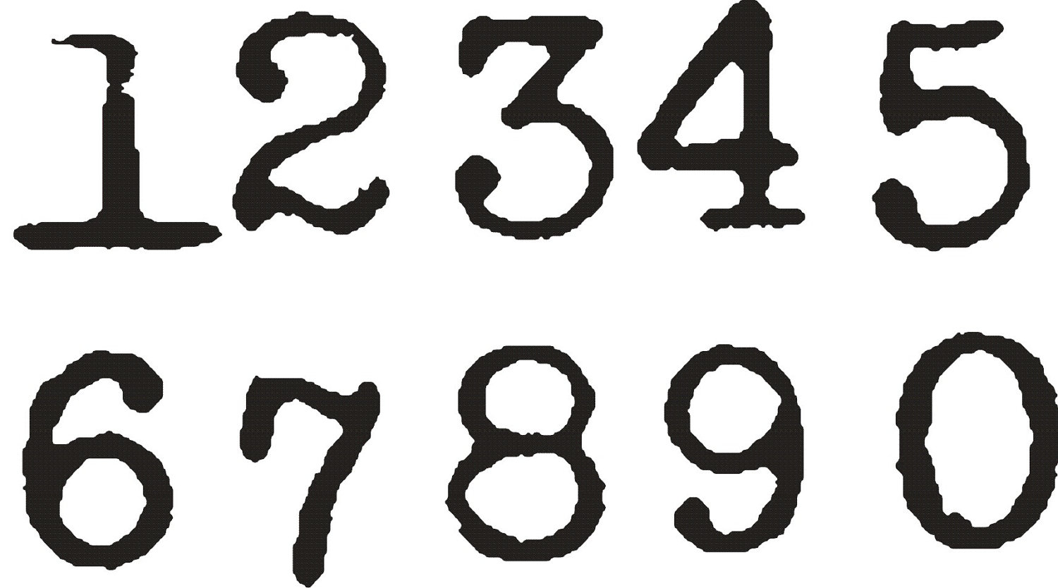 12 Vintage Number Fonts Images