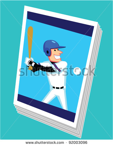 Vector Baseball Trading Card