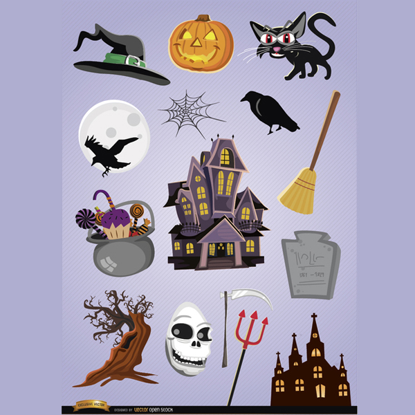 15 Vector Cartoon Horror Images