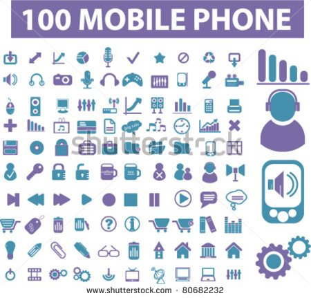 15 Cell Phone Display Icons Images