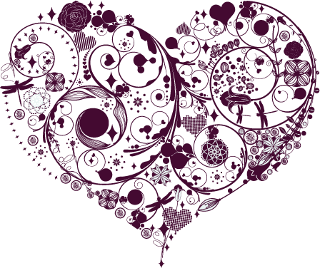 Vintage Heart Vector Clip Art