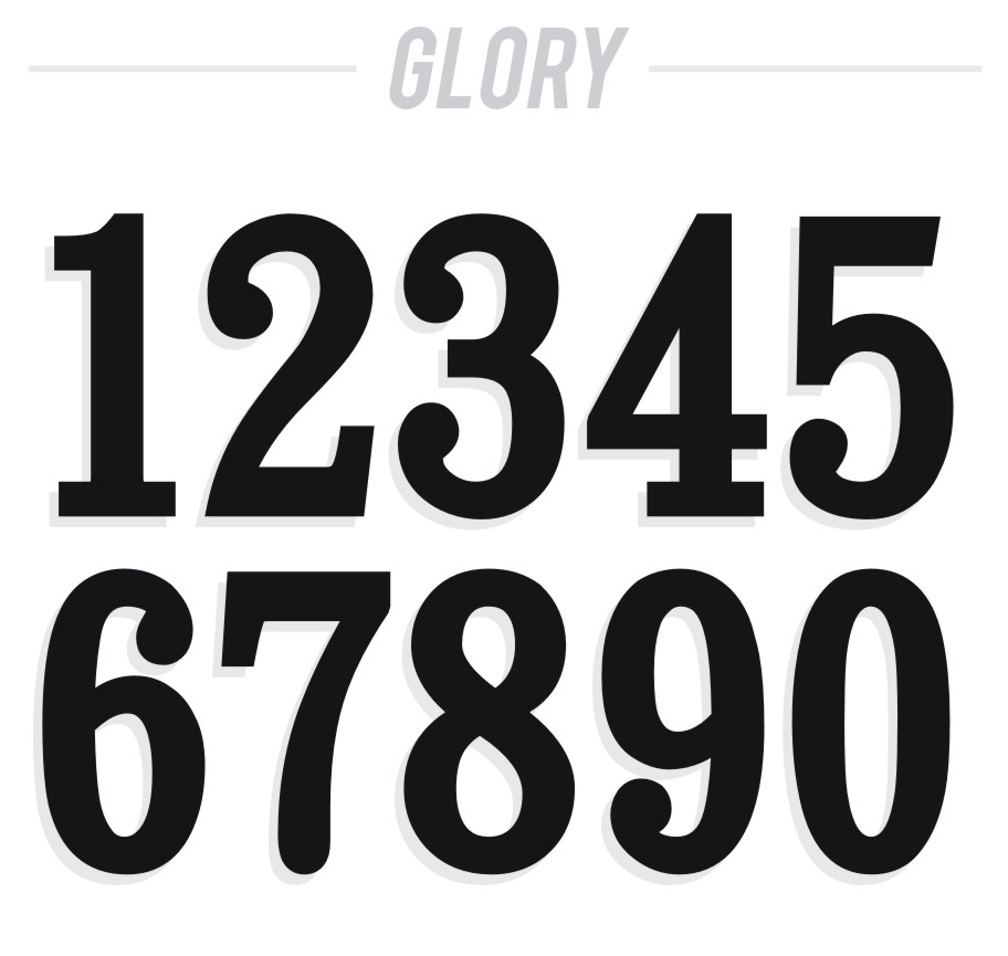 12 Vintage Number Fonts Images - Typewriter Font Numbers ...