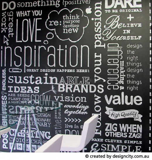 Wall Graphic Words Design