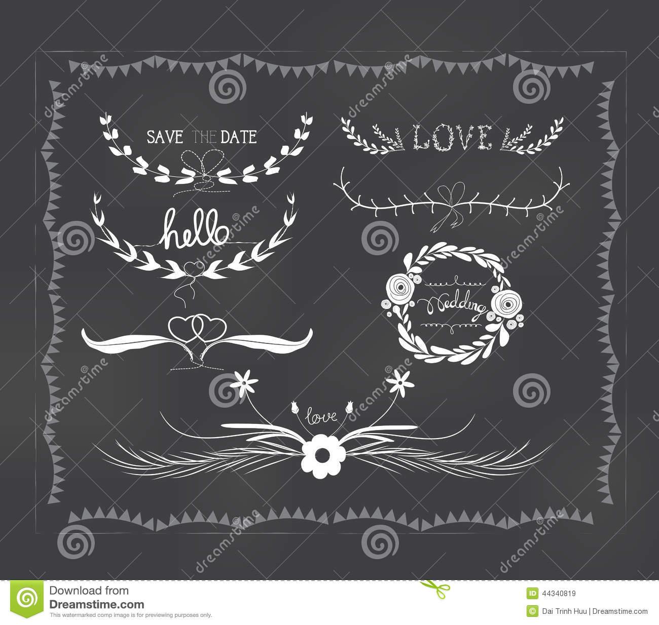 Wedding Chalkboard Graphics