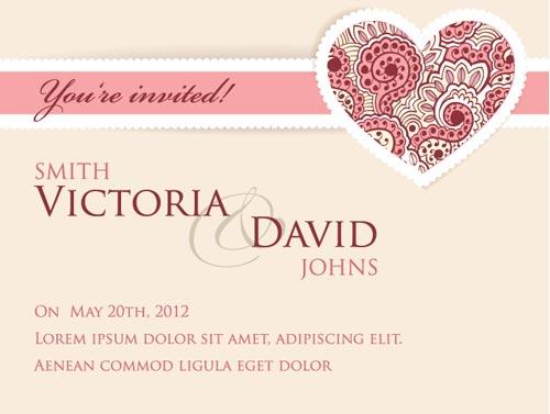 Wedding invitation card vector templates 28 images wedding card wedding invitation card vector templates wedding invitation template vector free stopboris Gallery