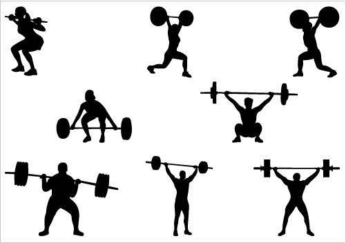 16 Woman Weight Training Vector Images