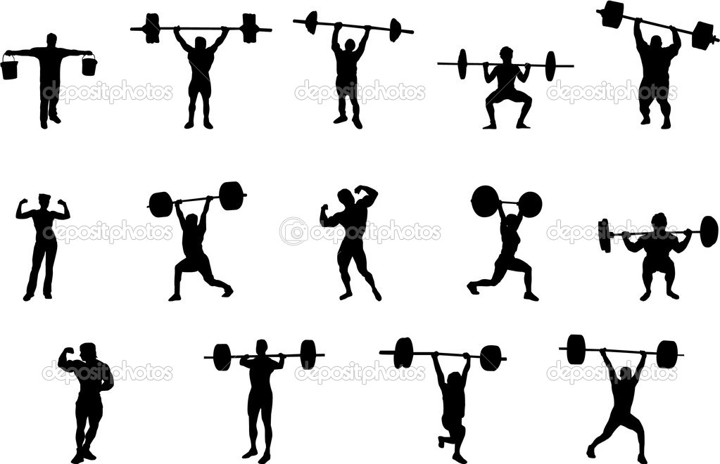 Women Weight Lifting Silhouette Clip Art – Cliparts