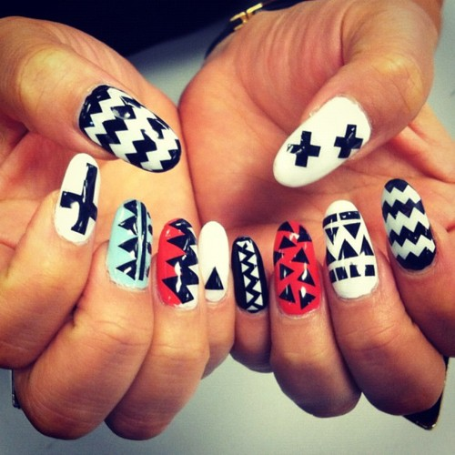 11 Black And White Cross Nail Designs Images