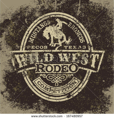14 Vintage Western Vector Graphics Images