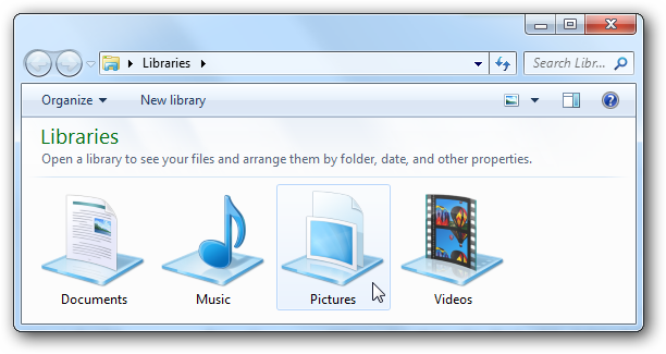 11 Windows 7 Libraries Folder Icon Images
