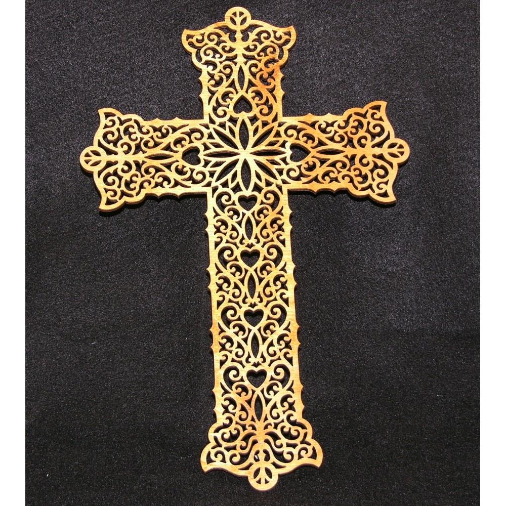 Wood Pattern Cut Out Crosses