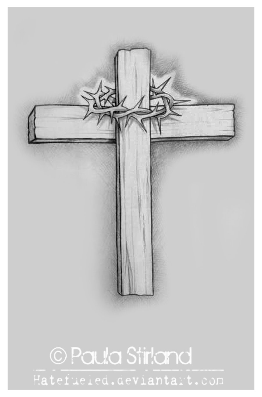 Wooden Cross Tattoo Designs