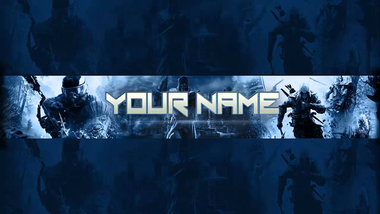 YouTube Gaming Channel Art Banner Template