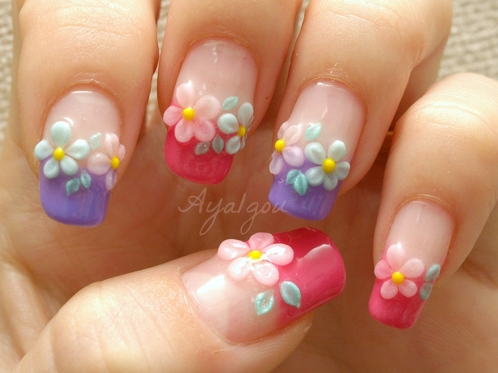 15 3D Flower Nail Designs Images