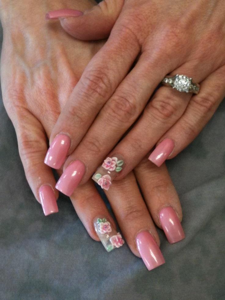 3D Flower Nail Design
