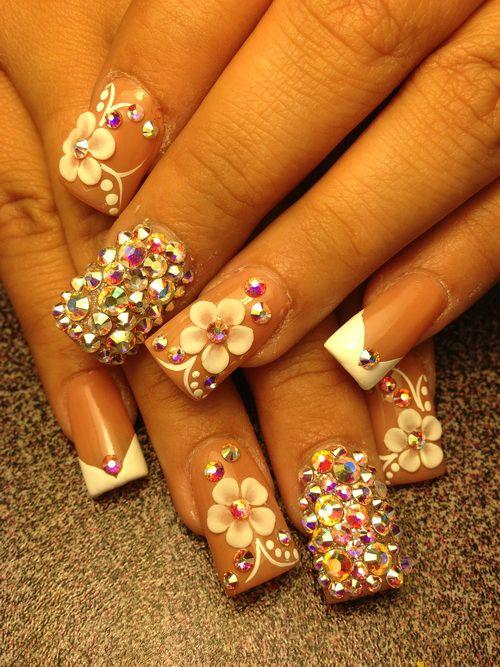 3D Flower Nail Designs 2014
