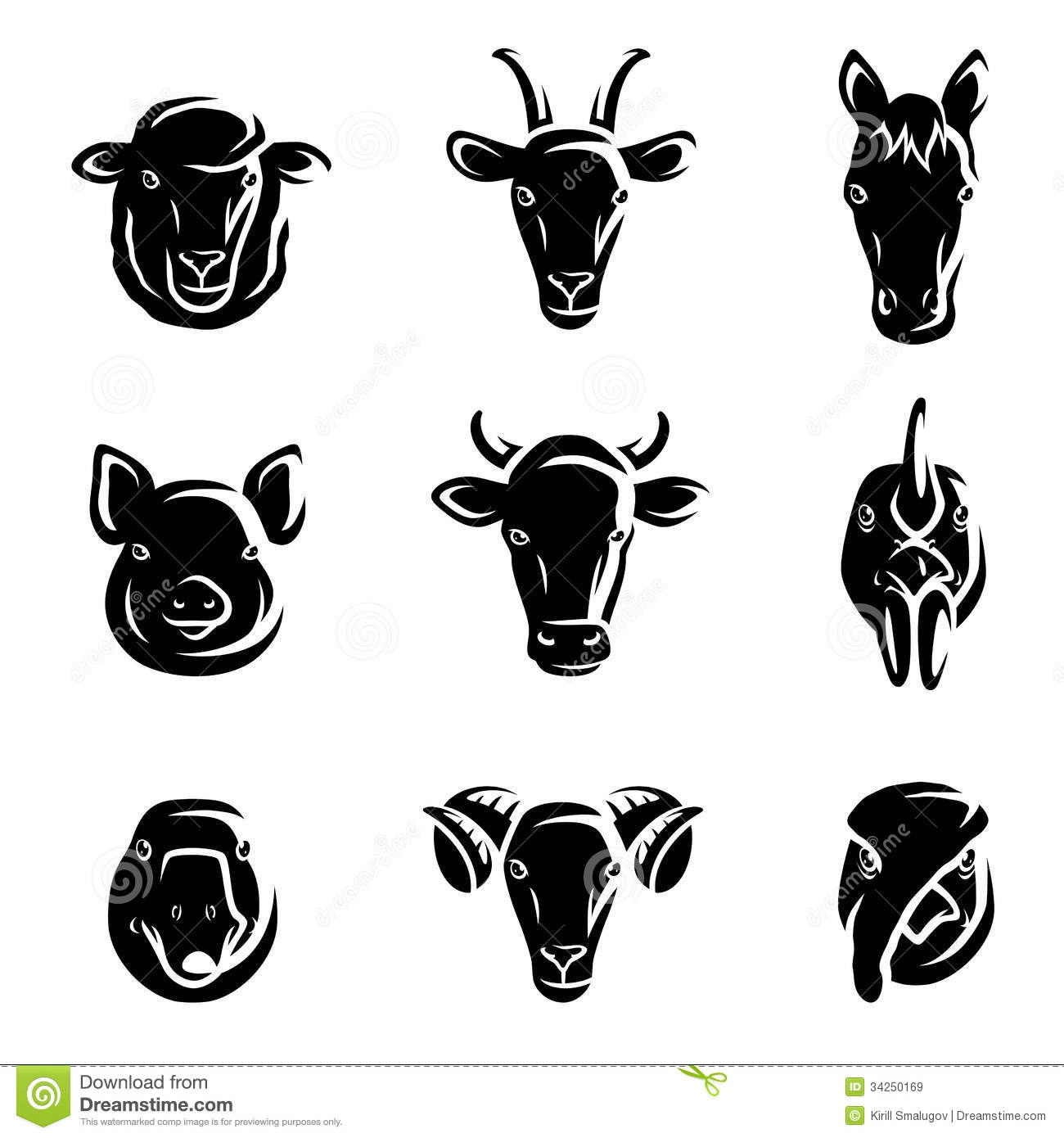 Animal Farm Illustrations Vector Free