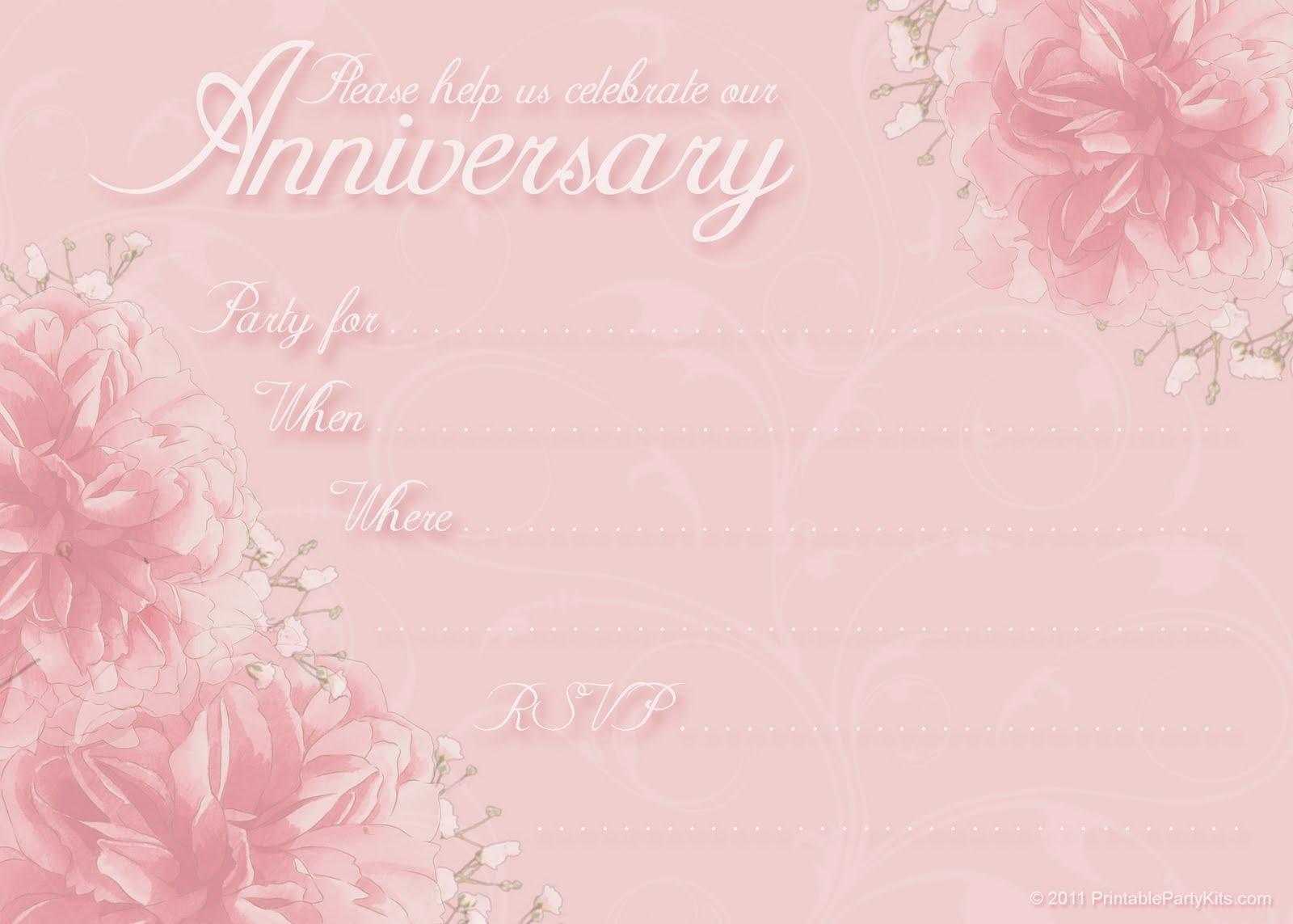 templates for anniversary invitations koni polycode co