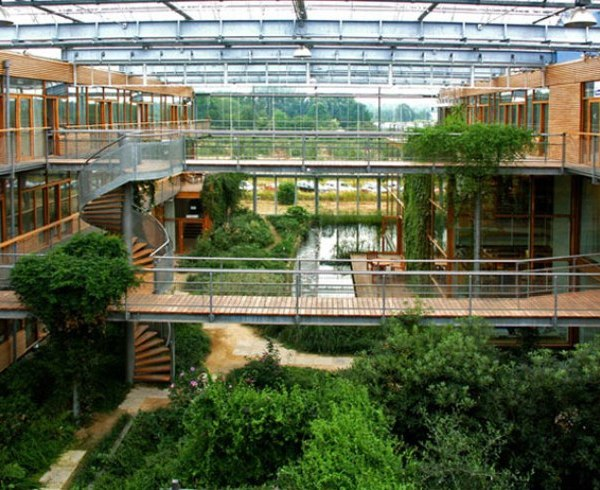 Atrium Architecture Design Green