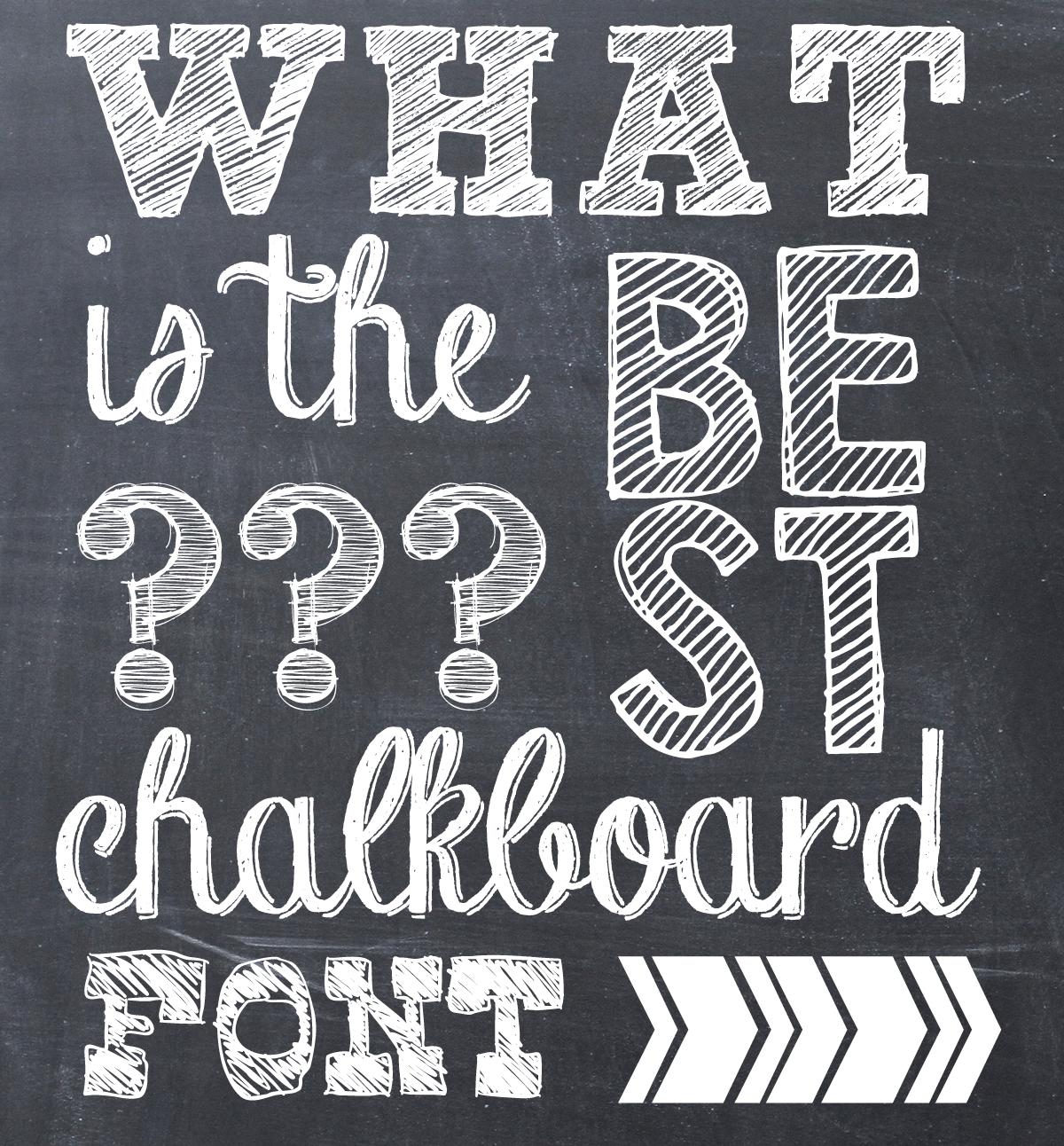 11 Free Chalkboard Font Images
