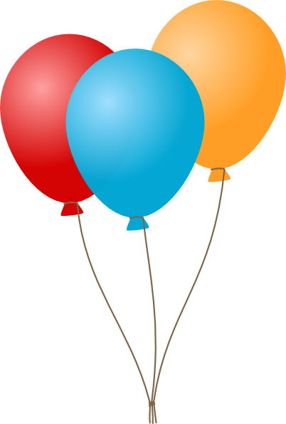Birthday Balloons Clip Art