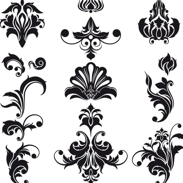 http://www.newdesignfile.com/postpic/2013/06/black-and-white-vintage-floral-pattern-vector_254580.jpg