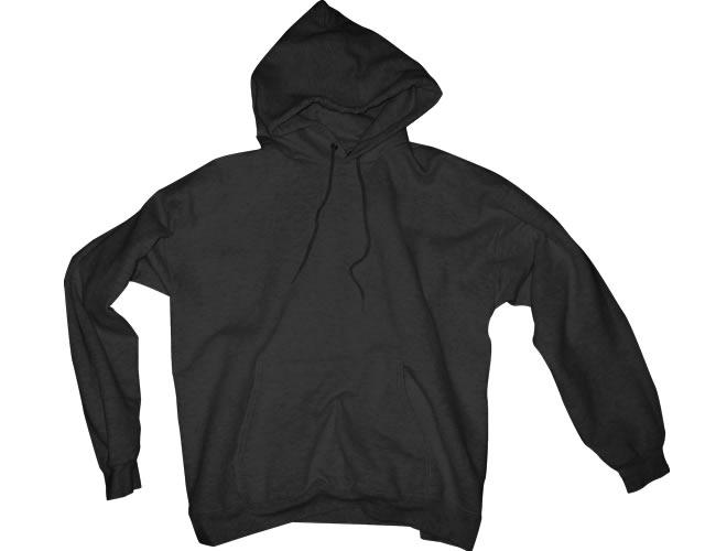 Black Blank Hoodie Template
