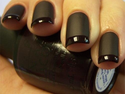 12 Matte Black Nail Designs Images