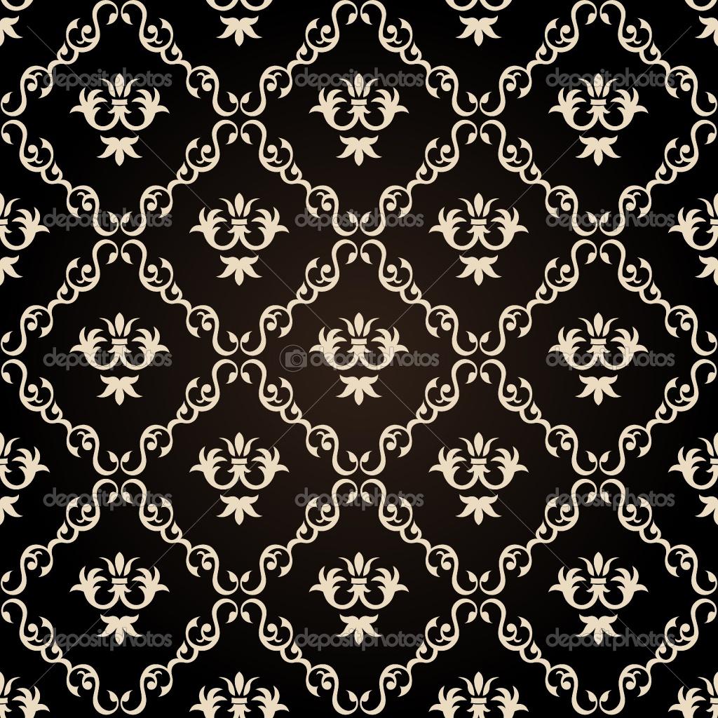 14 Vintage Flower Vector Black Images