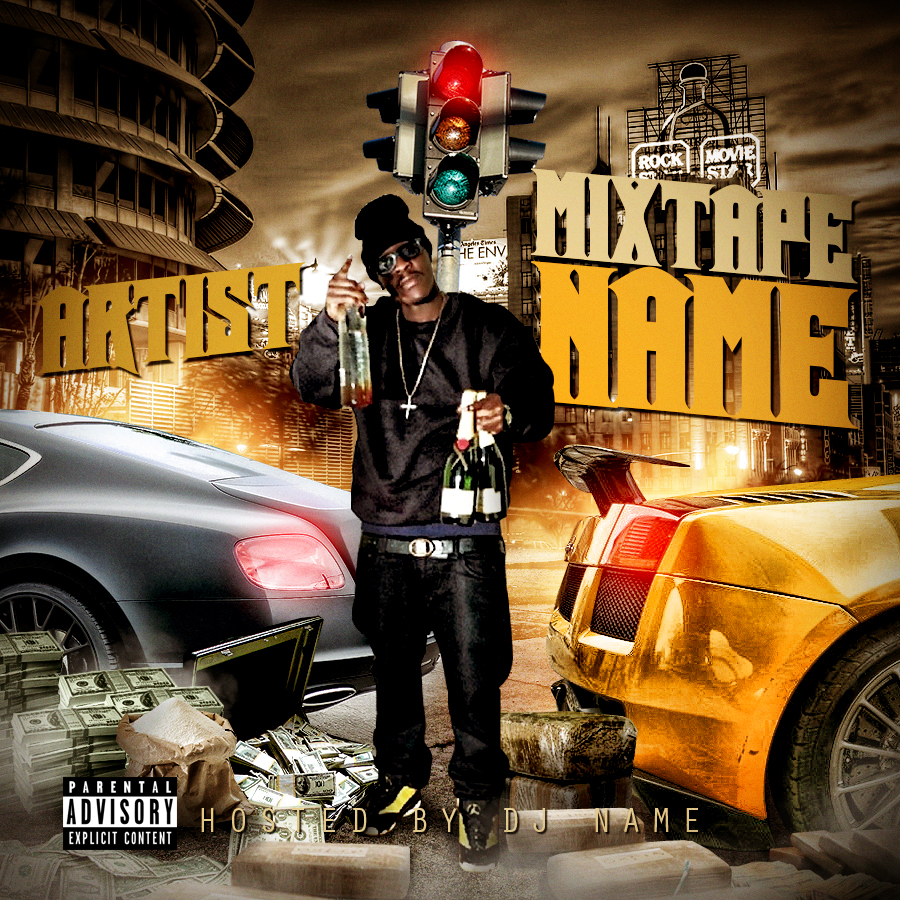 16 photoshop mixtape cover psd images free mixtape covers psds blank mixtape cover psd for Free mixtape covers