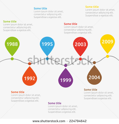 Bubble Infographic Timeline Template