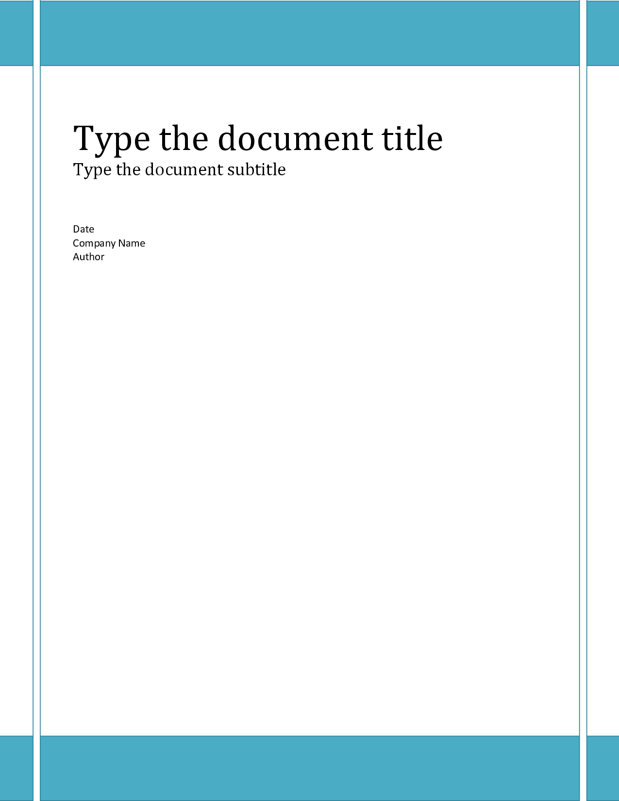 Business Report Cover Page Template