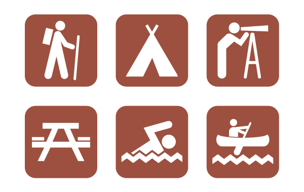 20 Vector Camping Icons Images