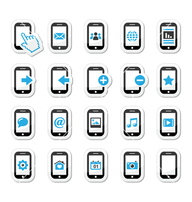 12 Cell Phone Status Icons Vector Images