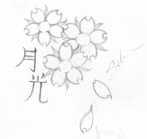 Cherry Blossom Tattoo Sketch